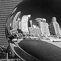 Cloud Gate Bean Black And White by Christopher Arndt