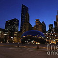Cloud Gate Chicago At Sunset by Michael Paskvan