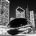 Cloud Gate Chicago Bean Black And White Picture by Paul Velgos