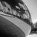 Cloud Gate Teardrop Black And White by Christopher Arndt