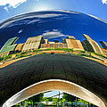 Cloud Gate Under The Bean by Christopher Arndt