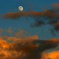 Cloud Series 36 Of Sunset With Moonrise by Bill Marder