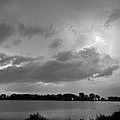 Cloud To Cloud Lake Lightning Strike In Bw by James BO  Insogna