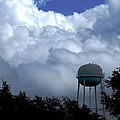 Clouds Around The Water Tower by Zina Stromberg