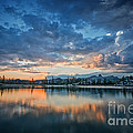 Clouds At Lower Sunset Lake by Dianne Phelps