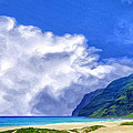 Clouds At Polihale by Dominic Piperata
