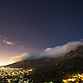 Clouds Loom Over Table Mountain In Cape by Matt Andrew