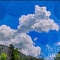 Clouds Loving A Friendly Mountain Landscape Painting by Omaste Witkowski