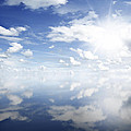 Clouds Reflected by Les Cunliffe
