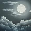 Clouds Under A Full Moon by Anna Bronwyn Foley