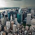 cloudy Manhattan by Hannes Cmarits