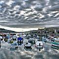 Cloudy Morning - Lyme Regis Harbour by Susie Peek