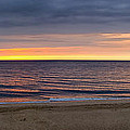 Cloudy Sunrise On Nauset Beach by Brian Caldwell