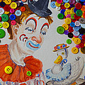 Clown And Duck With Buttons by Garry Gay
