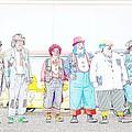 Clown Lineup by Darrell Clakley