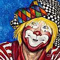 Watercolor Clown #16 Ron Maslanka by Patty Vicknair