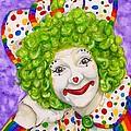 Watercolor Clown #12 Sue Marranconi by Patty Vicknair