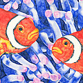 Clownfish Couple by Pauline Walsh Jacobson