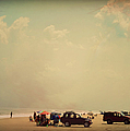 Clustered Beach Umbrellas by Paulette B Wright