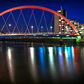 Clyde Arc Glasgow At Night by John Farnan