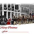 Clydesdale  Team Christmas Card by Randall Branham