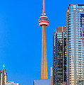 Cn Tower By Night by Inge Johnsson