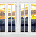 Co Mountain Gold View Out An Old White Double 16 Pane White Window by James BO Insogna