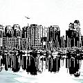 Vancouver Canada Coal Harbour Centre Panel by Patricia Keith