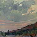 Coast At Sunset by Juliya Zhukova