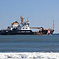 Coast Guard Cutter by Kenneth Albin