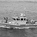 Coast Guard On Patrol In Black And White by Rob Hans
