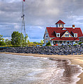 Coast Guard Station In Muskegon by Debra and Dave Vanderlaan