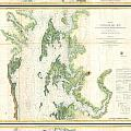 Coast Survey Map Of The Chesapeake Bay  by Paul Fearn