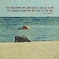 Coastal Beach - E.e. Cummings Sea Quote by Rebecca Korpita