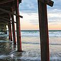Coastal Sunset At Oceanana Fishing Pier by Bob Decker