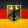 Coat Of Arms And Flag Of Germany by Serge Averbukh