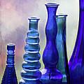 Cobalt Blue Bottles by Sabrina L Ryan