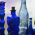 Cobalt Blue Bottles Too by Sabrina L Ryan