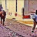Cobble Stone Streets Of Cuba by John Malone