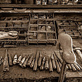 Cobblers Tools Bw by David Morefield