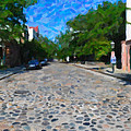 Cobblestone Street by Dale Powell