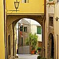 Cobblestone Street Of Tuscany by David Letts