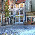 Cobblestoned Street and Shops