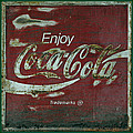 Coca Cola Green Grunge Sign by John Stephens