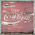 Coca Cola Pastel Grunge Sign by John Stephens