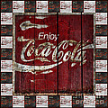 Coca Cola Sign With Little Cokes Border by John Stephens