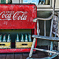 Coca Cola Vintage Cooler And Rocking Chair by Paul Ward