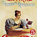 Coca - Cola Vintage Poster - Drink Delicious Refreshing by Gianfranco Weiss
