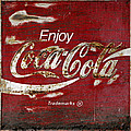 Coca Cola Wood Grunge Sign by John Stephens