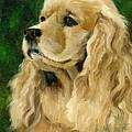 Cocker Spaniel Dog by Alice Leggett